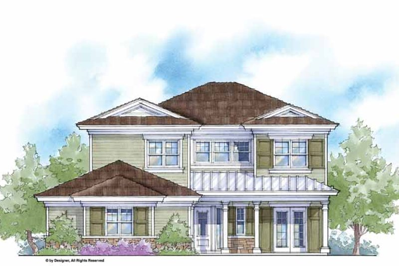 House Plan Design - Country Exterior - Front Elevation Plan #938-7