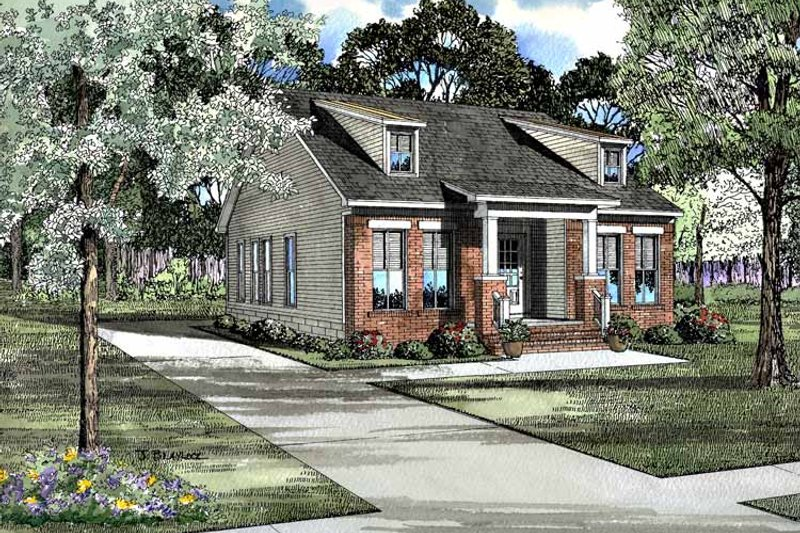Craftsman Exterior - Front Elevation Plan #17-3101