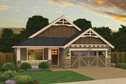 Craftsman Style House Plan - 3 Beds 2 Baths 1269 Sq/Ft Plan #943-47 Exterior - Front Elevation