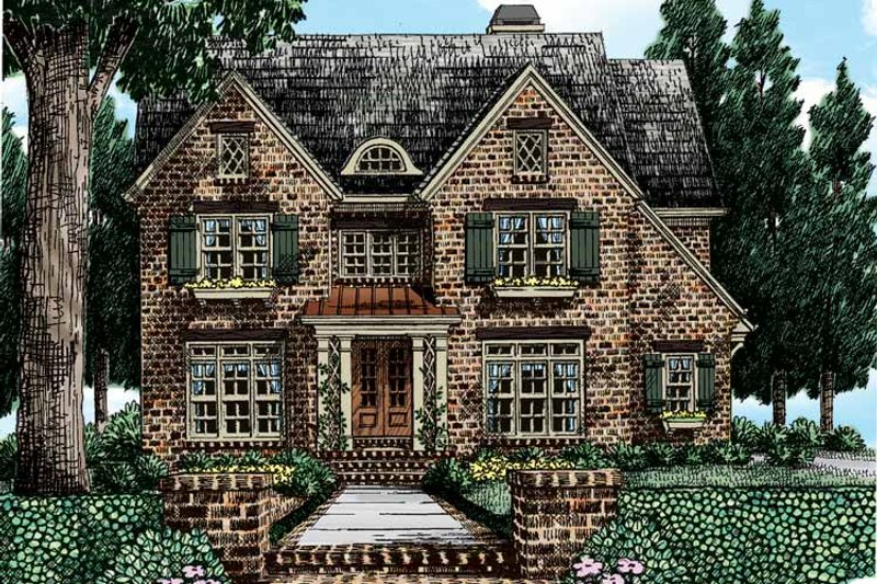 Tudor Exterior - Front Elevation Plan #927-413