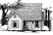 Traditional Style House Plan - 3 Beds 1 Baths 1032 Sq/Ft Plan #43-101