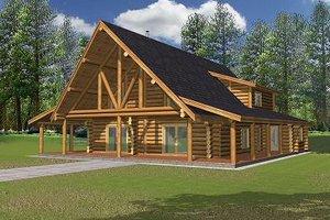 Home Plan - Log Exterior - Front Elevation Plan #117-502