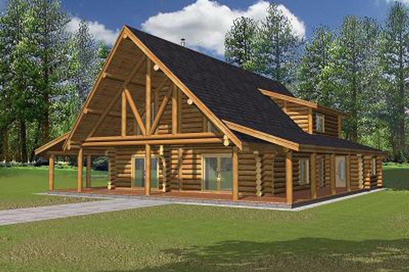 House Plan Design - Log Exterior - Front Elevation Plan #117-502