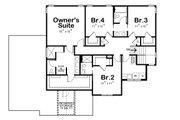 Craftsman Style House Plan - 4 Beds 3.5 Baths 2540 Sq/Ft Plan #20-2328 Floor Plan - Upper Floor Plan