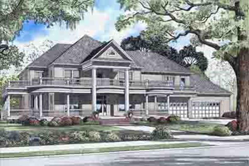 Architectural House Design - Victorian Exterior - Front Elevation Plan #17-2099