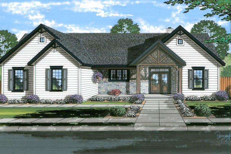 House Plan Design - Farmhouse Exterior - Front Elevation Plan #46-905