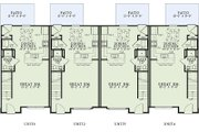 Traditional Style House Plan - 2 Beds 2 Baths 4212 Sq/Ft Plan #17-2467