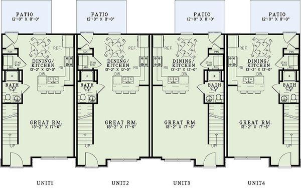 Home Plan - Traditional Floor Plan - Main Floor Plan #17-2467