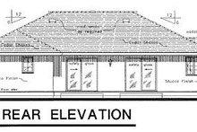 Ranch Exterior - Rear Elevation Plan #18-135