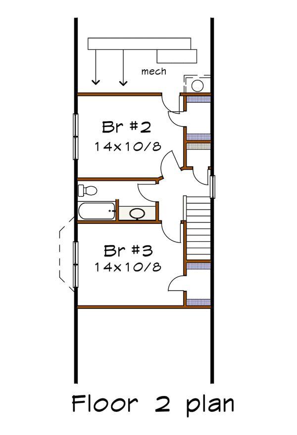 Cottage Floor Plan - Upper Floor Plan Plan #79-175