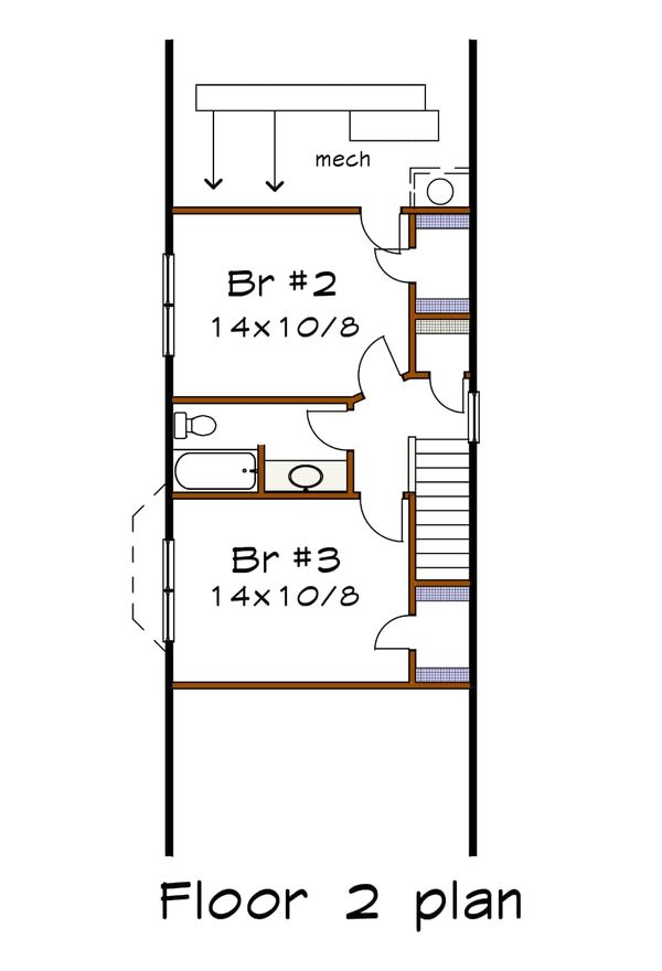 Cottage Floor Plan - Upper Floor Plan Plan #79-175
