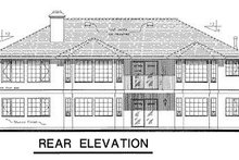 House Blueprint - Ranch Exterior - Rear Elevation Plan #18-128