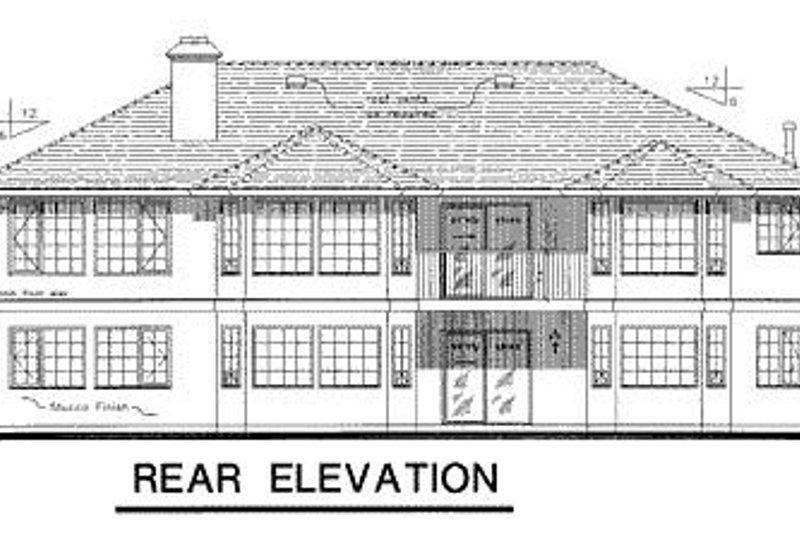 Ranch Exterior - Rear Elevation Plan #18-128 - Houseplans.com