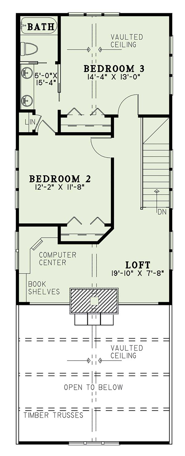 House Plan Design - Cabin Floor Plan - Upper Floor Plan #17-3303
