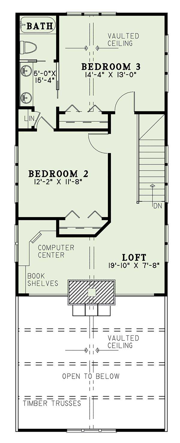 Dream House Plan - Cabin Floor Plan - Upper Floor Plan #17-3303
