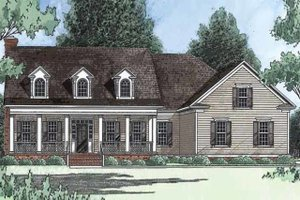 Dream House Plan - Farmhouse Exterior - Front Elevation Plan #1054-4