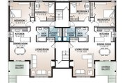 European Style House Plan - 2 Beds 1 Baths 7624 Sq/Ft Plan #23-2050 Floor Plan - Lower Floor