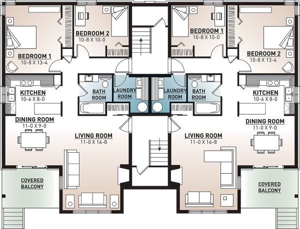 European Floor Plan - Lower Floor Plan Plan #23-2050