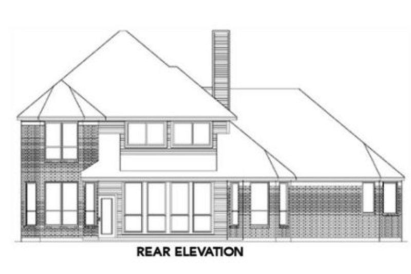 European Exterior - Rear Elevation Plan #84-260 - Houseplans.com