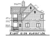 European Style House Plan - 3 Beds 2.5 Baths 1566 Sq/Ft Plan #20-2195 Exterior - Other Elevation
