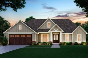 Dream House Plan - Farmhouse Exterior - Front Elevation Plan #1074-28