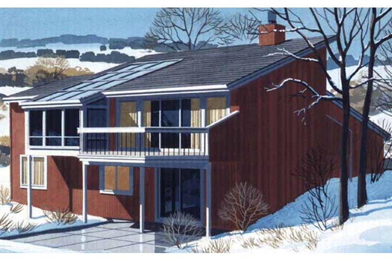 Prairie Exterior - Rear Elevation Plan #320-1190 - Houseplans.com