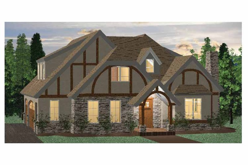 European Exterior - Front Elevation Plan #937-4 - Houseplans.com
