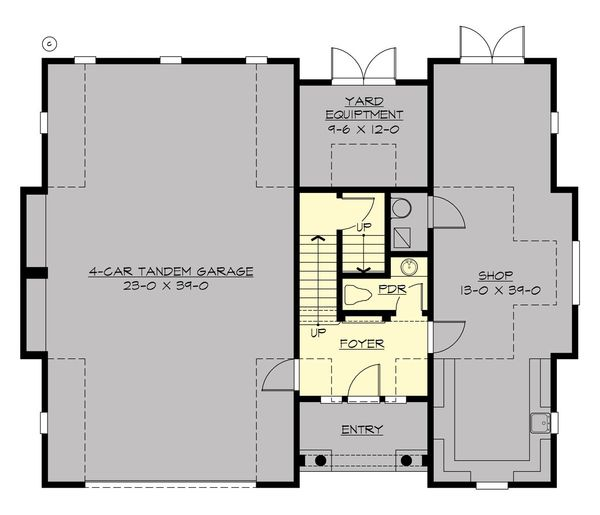 Traditional Floor Plan - Main Floor Plan Plan #132-191
