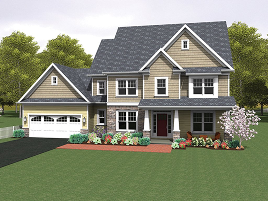 Colonial style house plan 4 beds 2 5 baths 2690 sq ft for Colonial style home plans