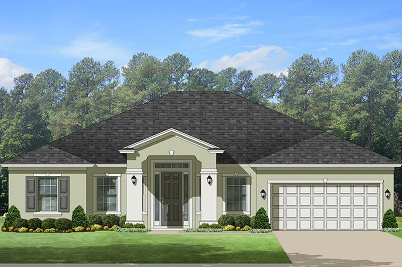 Home Plan - Adobe / Southwestern Exterior - Front Elevation Plan #1058-134