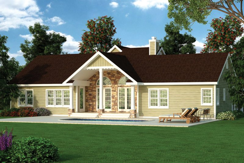 Craftsman Exterior - Rear Elevation Plan #314-289 - Houseplans.com