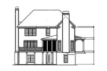 Craftsman Exterior - Rear Elevation Plan #927-1