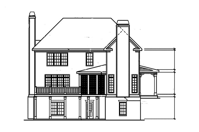 Craftsman Exterior - Rear Elevation Plan #927-1 - Houseplans.com