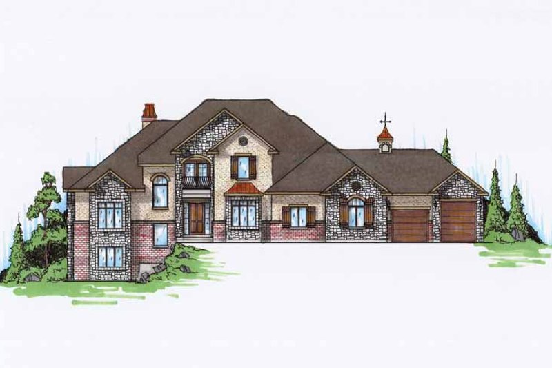 Country Exterior - Front Elevation Plan #945-72