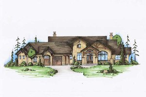 Home Plan Design - Traditional Exterior - Front Elevation Plan #5-337