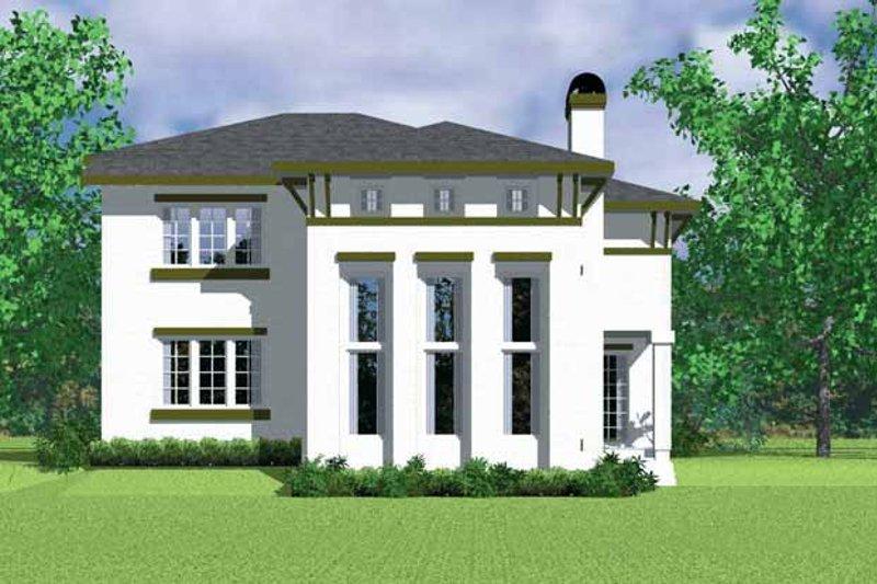 House Blueprint - Prairie Exterior - Rear Elevation Plan #72-1120