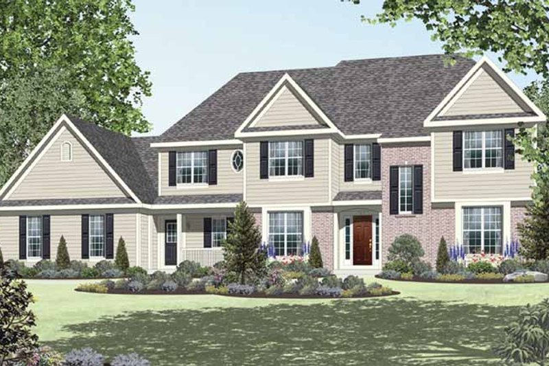 Architectural House Design - Country Exterior - Front Elevation Plan #328-463