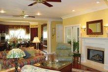 Colonial Interior - Family Room Plan #44-205