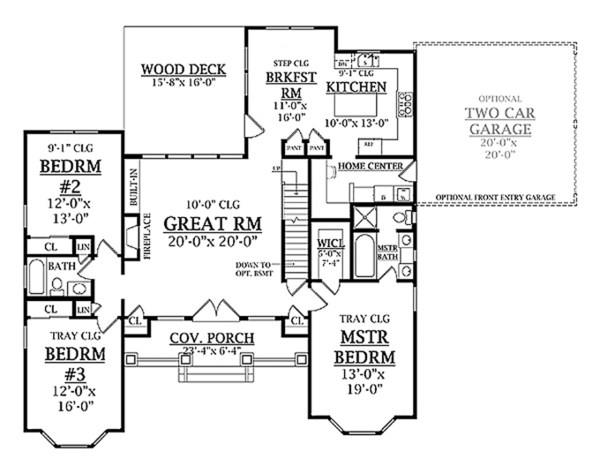 Craftsman Floor Plan - Main Floor Plan Plan #314-279