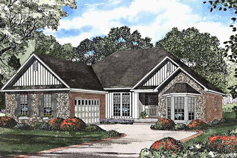 Dream House Plan - Country Exterior - Front Elevation Plan #17-3167
