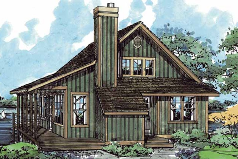 Country Exterior - Front Elevation Plan #970-8 - Houseplans.com