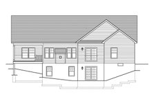 Ranch Exterior - Rear Elevation Plan #1010-104