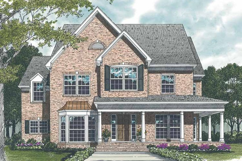 Country Exterior - Front Elevation Plan #453-520