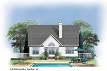 House Plan Design - Traditional Exterior - Rear Elevation Plan #929-723