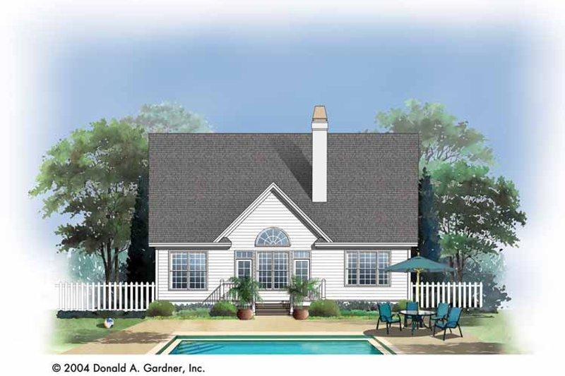 Traditional Exterior - Rear Elevation Plan #929-723 - Houseplans.com