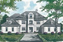 European Exterior - Front Elevation Plan #453-110