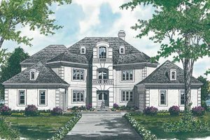 Dream House Plan - European Exterior - Front Elevation Plan #453-110