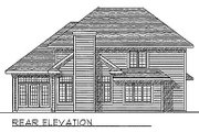 Traditional Style House Plan - 3 Beds 2.5 Baths 1987 Sq/Ft Plan #70-263 Exterior - Rear Elevation