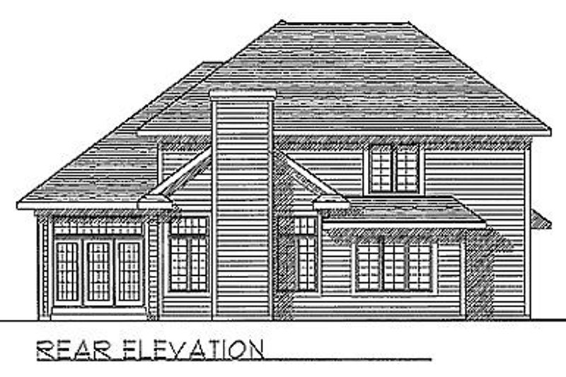 Traditional Exterior - Rear Elevation Plan #70-263 - Houseplans.com