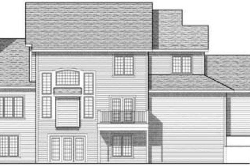 Traditional Exterior - Rear Elevation Plan #70-621 - Houseplans.com